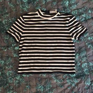 NWOT Alexander Wang striped velvet crop top small